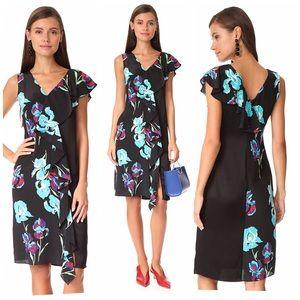 Diane Von Furstenberg sleeveles side ruffle dress